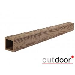 Балясина ДПК Outdoor 50*50*3000 мм, текстура дерево, коричневая