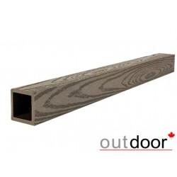 Балясина ДПК Outdoor 50*50*3000 мм, текстура дерево, темно- коричневая (Коллекция 2)