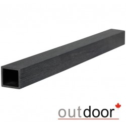 Балясина ДПК Outdoor 50*50*3000 мм, STORM BLACK, черная