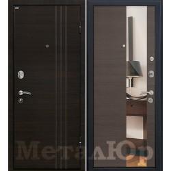 Дверь МеталЮр М15, грей кроскут, зеркало
