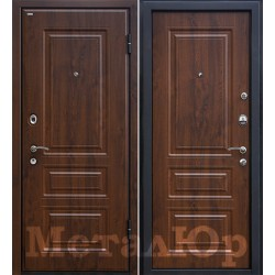 Дверь МеталЮр М11, темный орех
