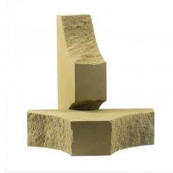 Кирпич фасонный с двумя вогнутыми углами Песчаник