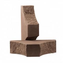 Кирпич  с двумя вогнутыми углами Шоколад
